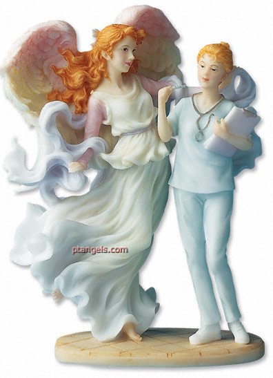 Seraphim Classic Angel Caring Touch with Nurse