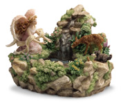 Eden Water Fountain Figurine